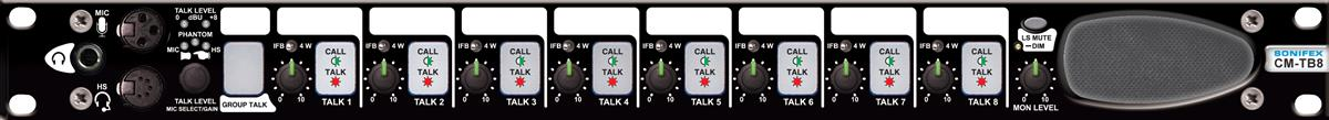 Sonifex Talkback Control Unit, 8 Channels of 4 Wire Comms