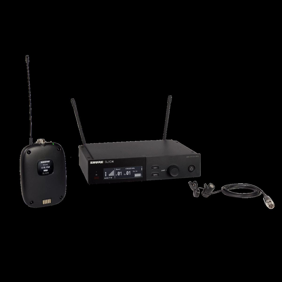 Shure SLX-D Bodypack System WL185 Lavalier - 518-562MHz