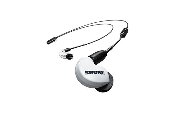 Shure SE215 earphone w/ RMCE-BT2 Bluetooth WHITE