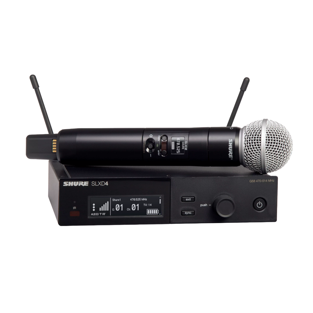 Shure SLX-D Handheld System SM58 Microphone - 823-865MHz