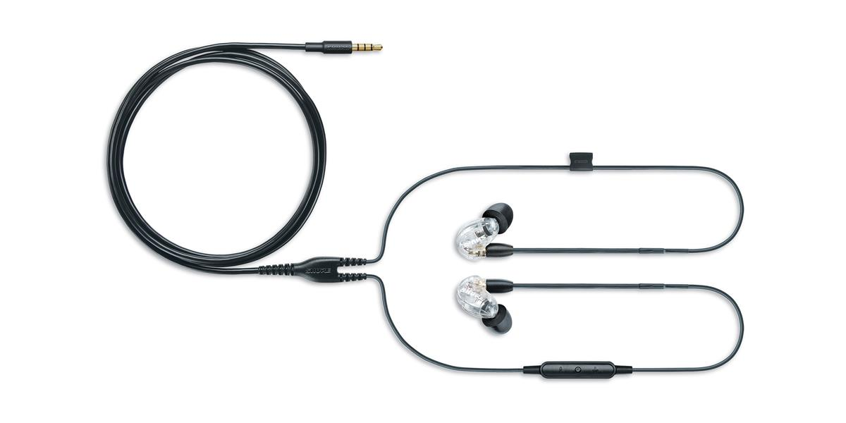 Shure SE215 Earphone (w/ RMCE-UNI), clear