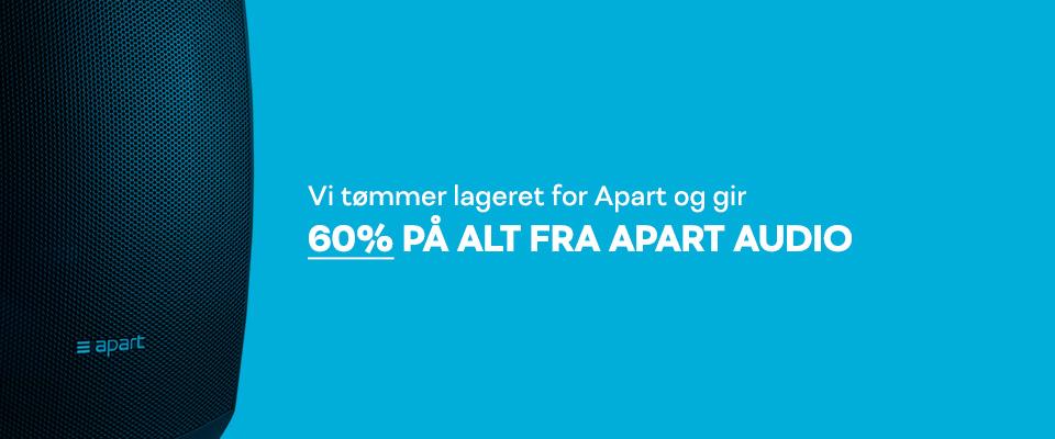 60% på alt fra Apart Audio