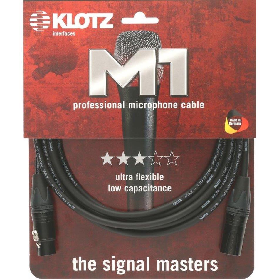 Klotz M1FM1N professional microphone cable Neutrik XLR 1m