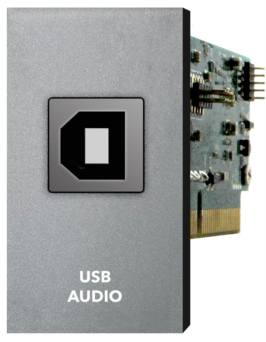 Xilica two-channel USB audio In Out card 2in x 2out