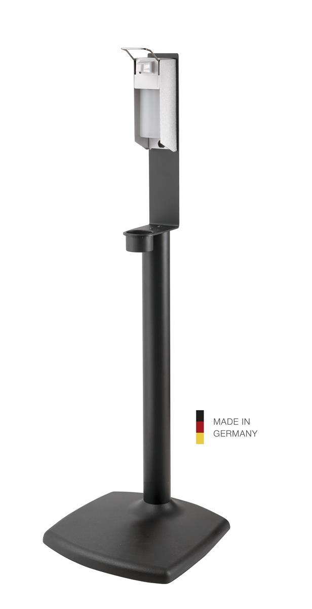 K&M 80358 Disinfectant stand inkl dispenser, black structur