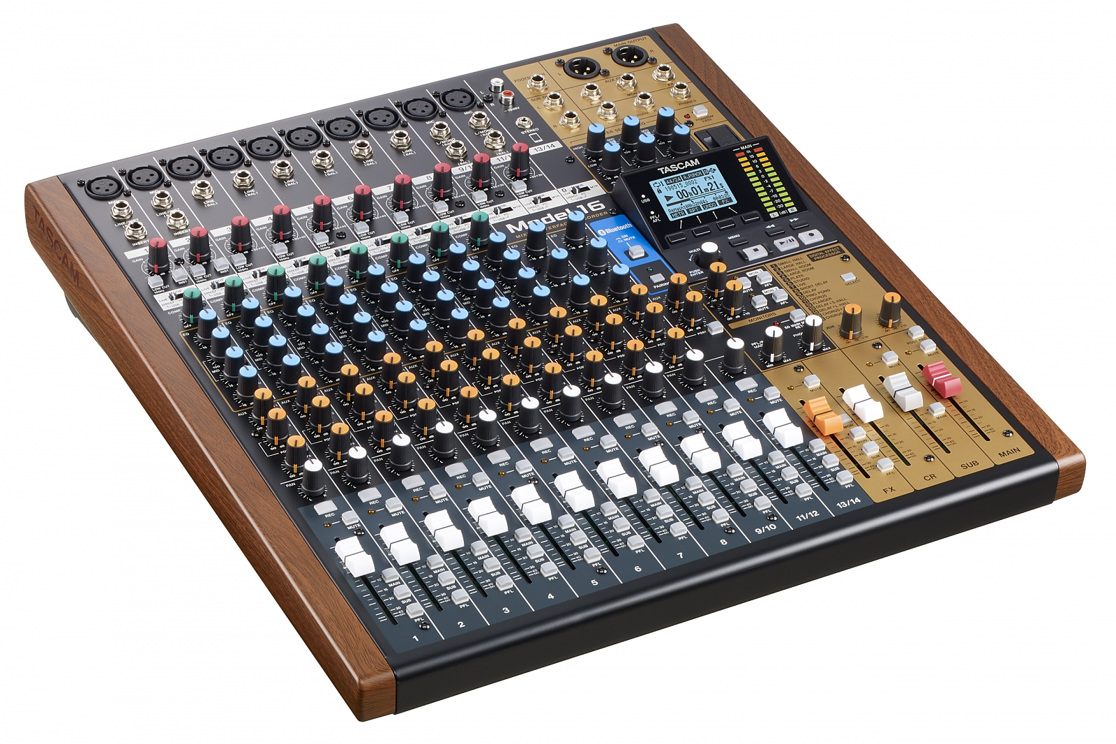 Tascam 14-Ch Analogue Mixer with 16-Track Digital Recorder