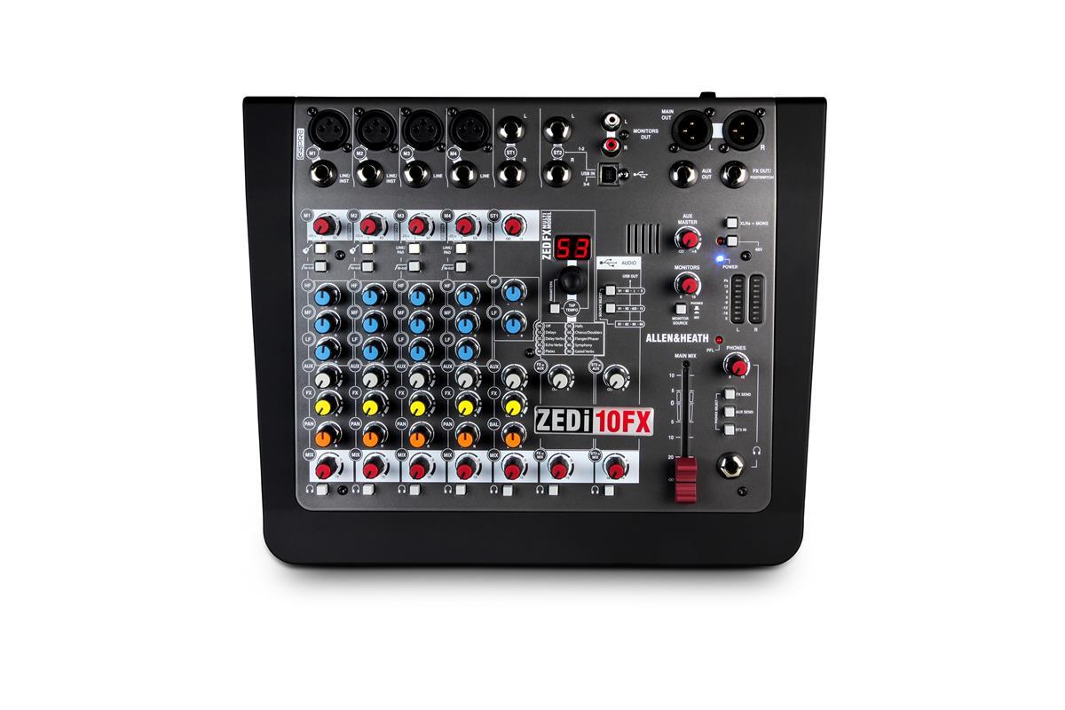 A&H ZEDi10FX Hybrid compact mixer, 4×4 USB interface, FX