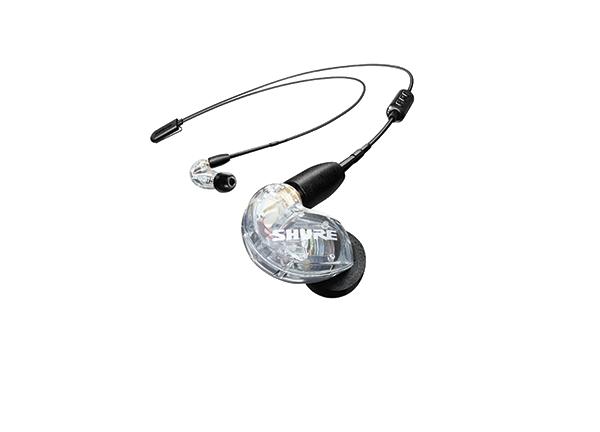 Shure SE215 earphone w/ RMCE-BT2 Bluetooth, CLEAR