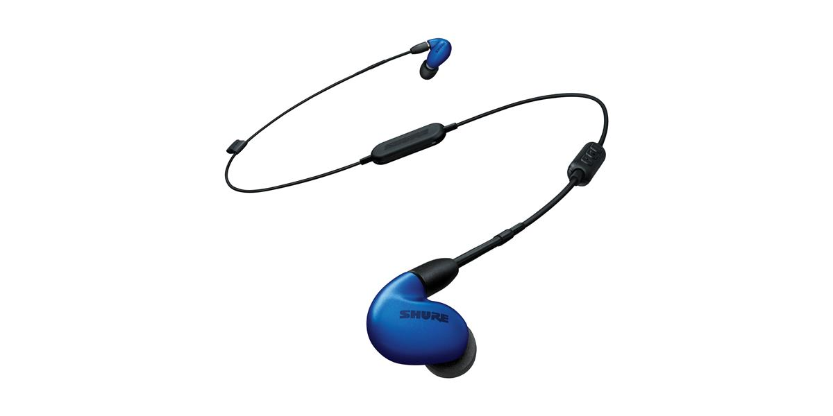 "Shure SE846 (w/RMCE-UNI, standard 64"", and RMCE-BT1), Blue"