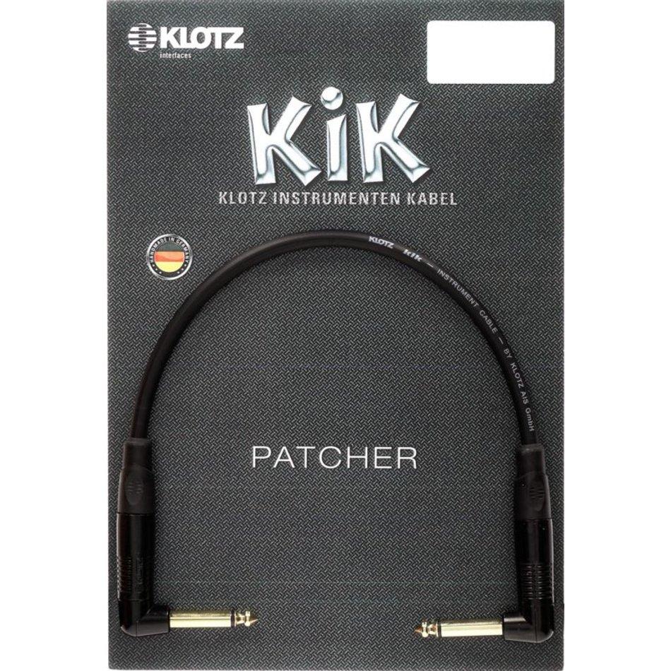 Klotz KIK Pedal patcher angled jacks bk 0,3m