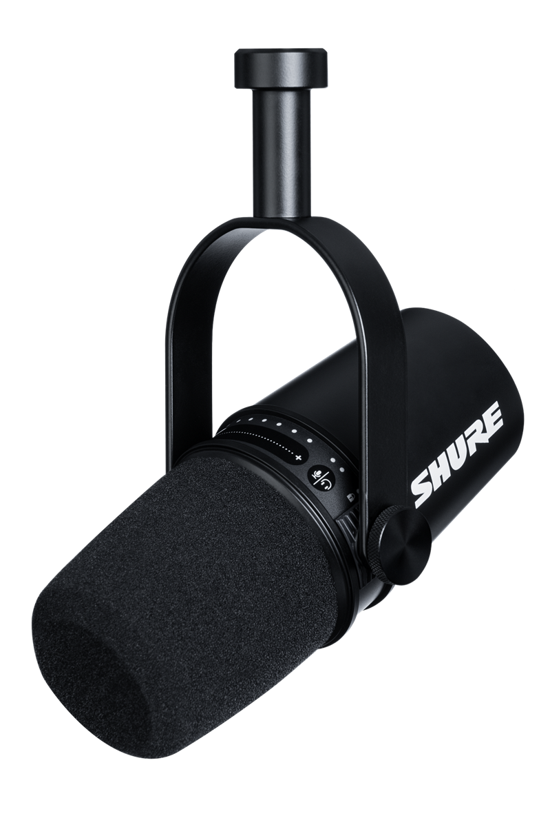Shure XLR/USB SPEECH MICROPHONE, BLACK