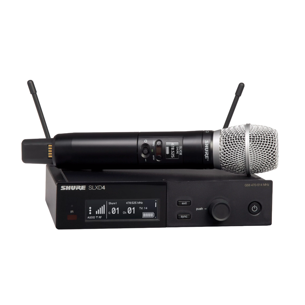 Shure SLX-D Handheld System SM86 Microphone - 823-865MHz