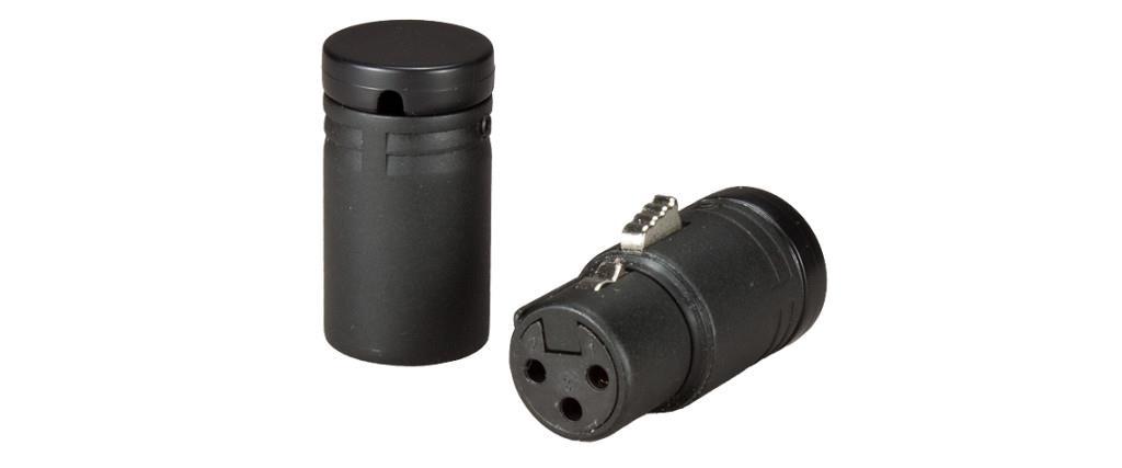 Ambient LP-XLR3F-BK Low-Profile XLR3F connector, black cap