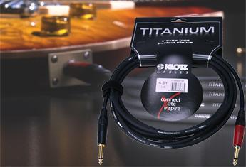 Klotz Titanium gitar kabel med silentPLUG 6,0 meter gold