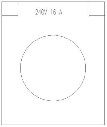 SMRT PAN 230V 16A kontakt blå m/lokk SPUJP