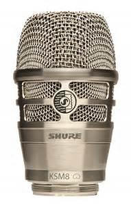 Shure KSM8 Dualdyne element kardioide nickel for håndsender