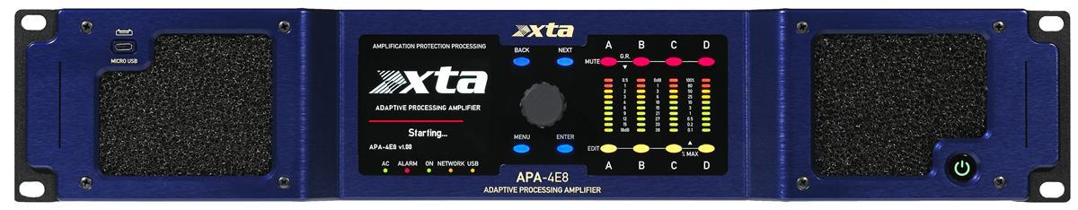 XTA APA-4E8 Adaptive Processing Amplification 4ch ClassD DSP