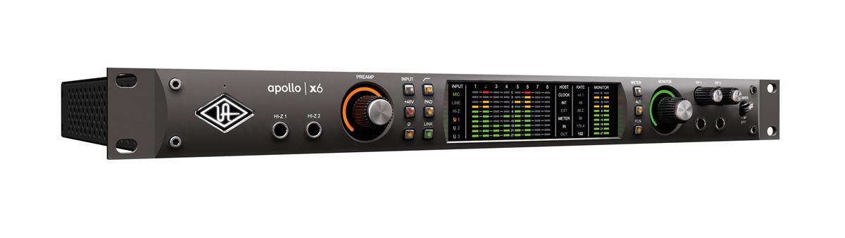 Universal Audio Apollo X6, x2 Mic, x6 ana. I/O, x6 DSP, TB3