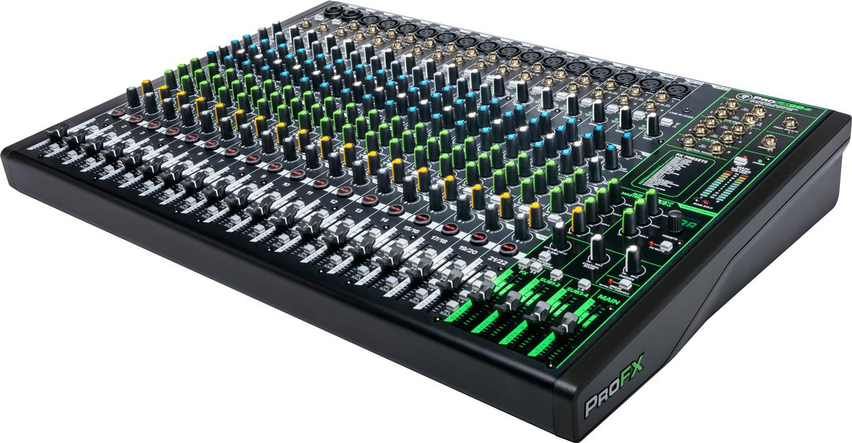 Mackie 22 Channel 4-bus Professional Effects Mixer with USB