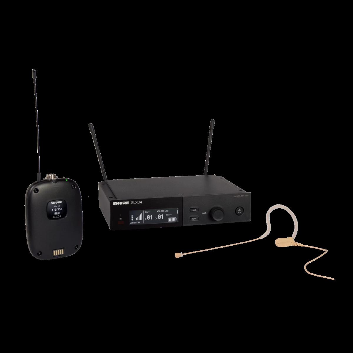 Shure SLX-D Beltpack system MX153T Tan Earset - 518-562MHz