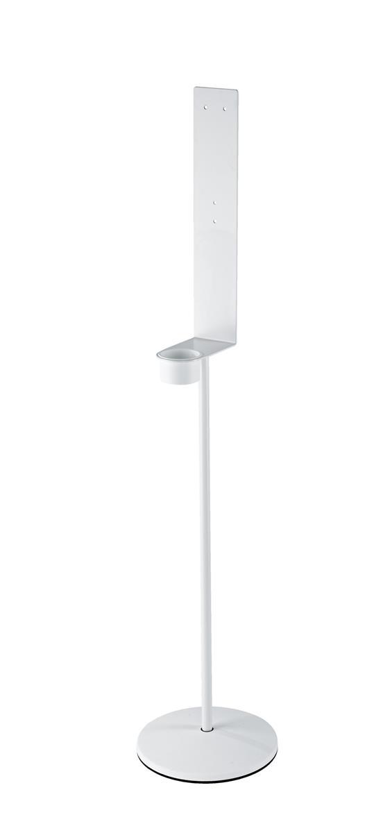 K&M 80320 Disinfectant stand for Euro dispenser, white