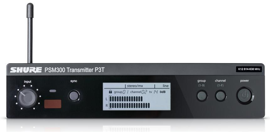 Shure PSM300 Wireless Transmitter K3E (606-630MHz)