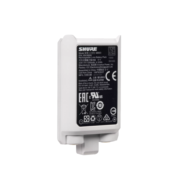 Shure Lithium Ion Recharable Battery for SLX-D