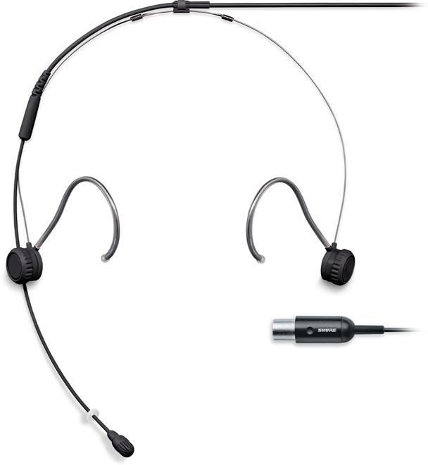 Shure TH53 Headset Omni 1.6mm Cab MTQG Black