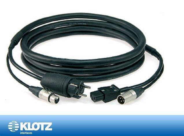 Klotz hybrid XLRF-Schuko/XLRM-IEC 05 m