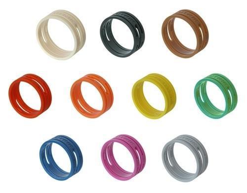 Neutrik brun ring XX-plugg - pose à 10 stk