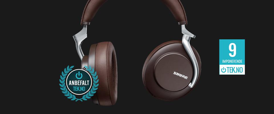 Shure trådløse og støyreduserende hodetelefoner