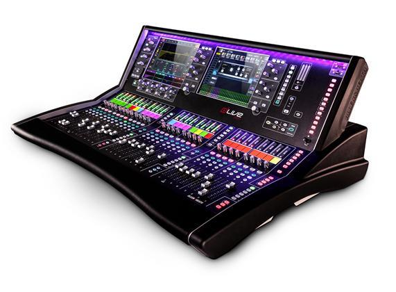 "A&H dLive S5000 Surface - 28 faders, dual 12"" screens"