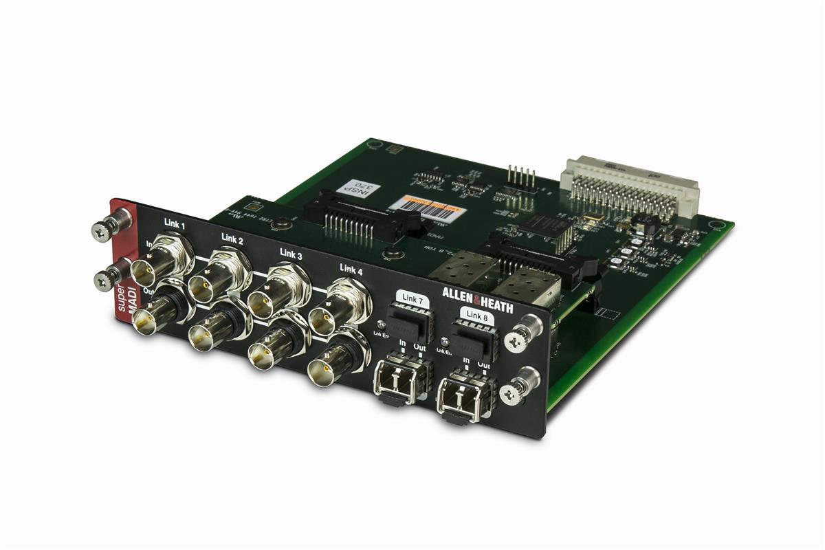 Super Madi card 128x128 I/O, 96k, 8xBNC, 8xSFC