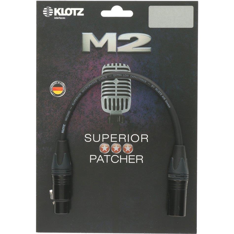 Klotz mik.kabel Superior Neutrik XLR/XLR 30 cm