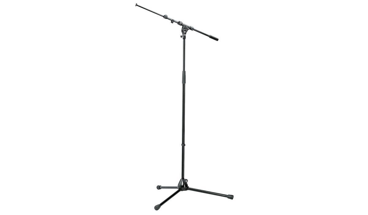 K&M 210/9B Mikrofonstativ, sort, med galge
