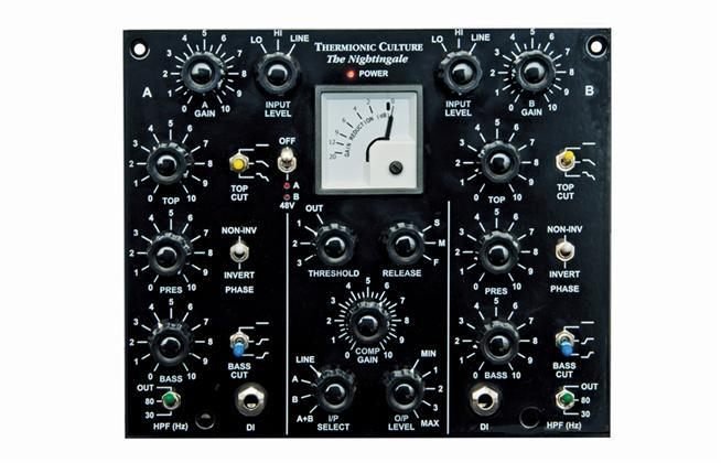 Thermionic Culture Nightingale, 2 ch Mic Pre / EQ & Comp.