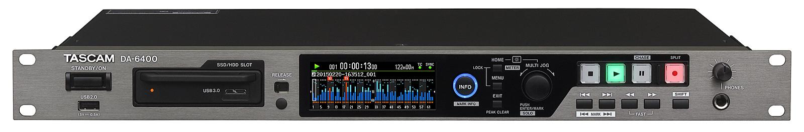Tascam 64-track Audio Recorder 48 kHz - 96 kHz redun.power