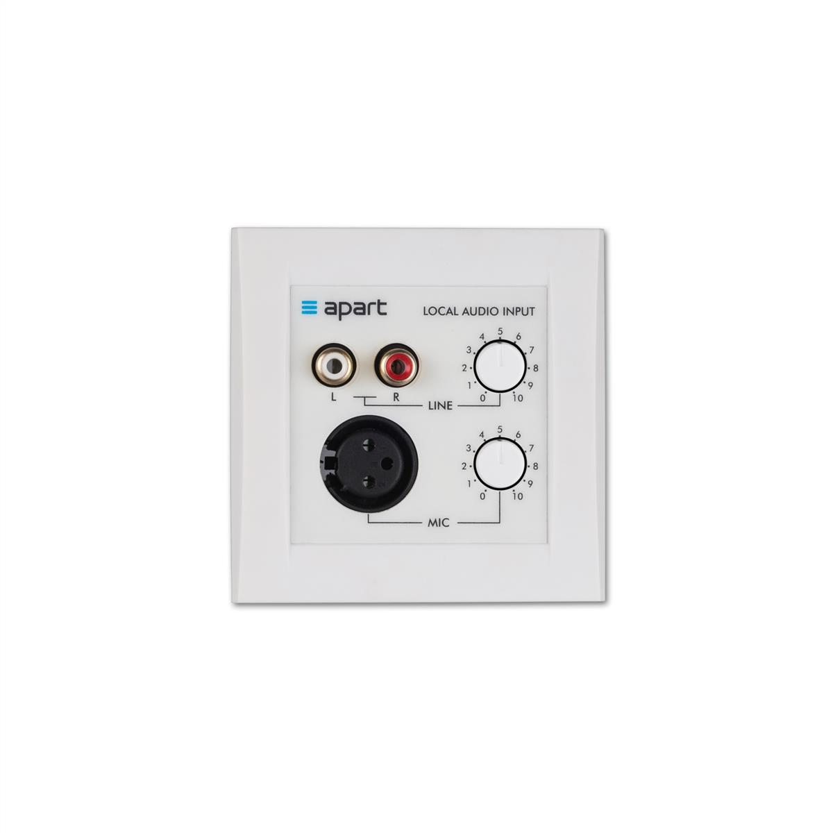 Apart lokal input med mic for 12-8, PM1122, Zone4, MA247-MR