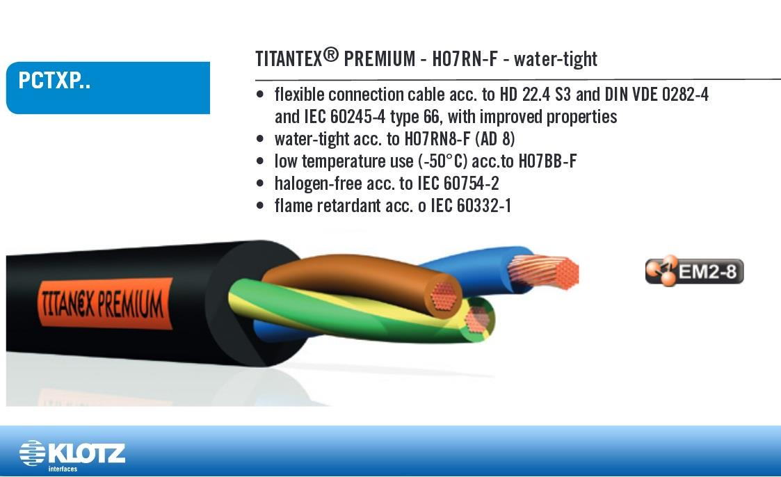 Klotz Titanex Premium 3 x 2.5mm AD 8 Strøm Eca
