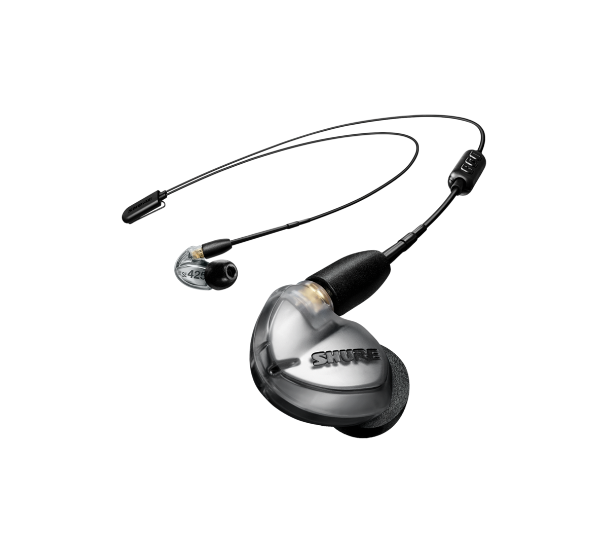 Shure SE425 earphone w/ RMCE-BT2 Bluetooth SILVER