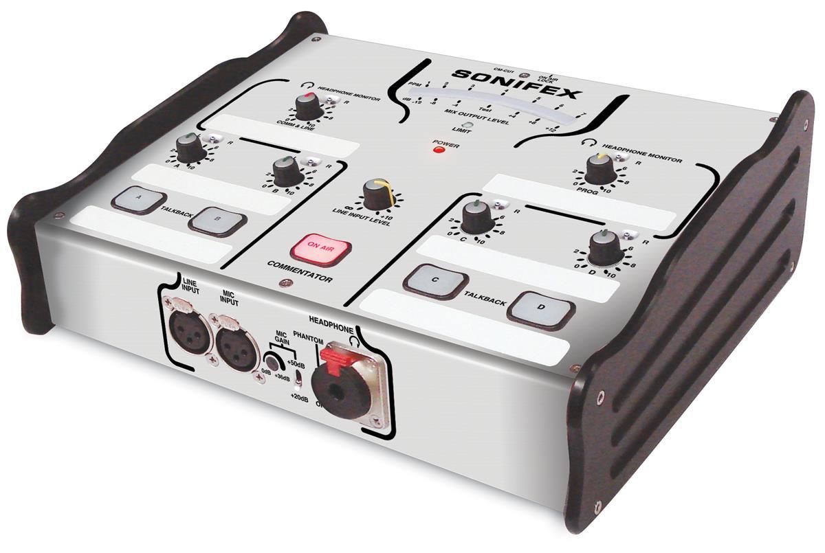 Sonifex CM CU1 1 kommentator + Linje input