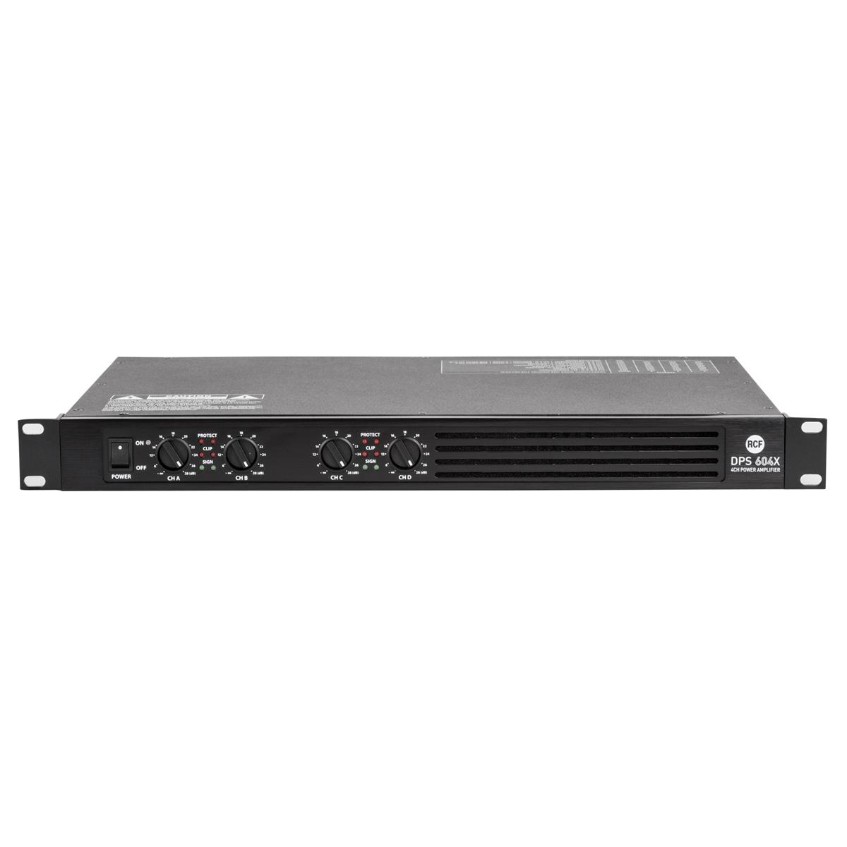 RCF Class D pro power amplifier 4x150 W RMS  4 ohm with int