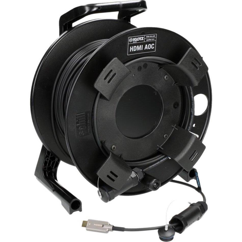 Klotz HDMI 2.0 Armored AOC (active optical cable) drum 50m