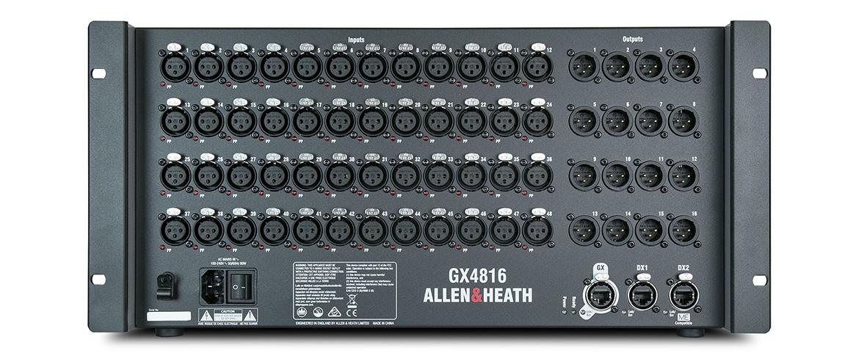 A&H GX4816 AudioRack dLive/SQ 48/16 XLR I/O 1 DX, 1DX+ME