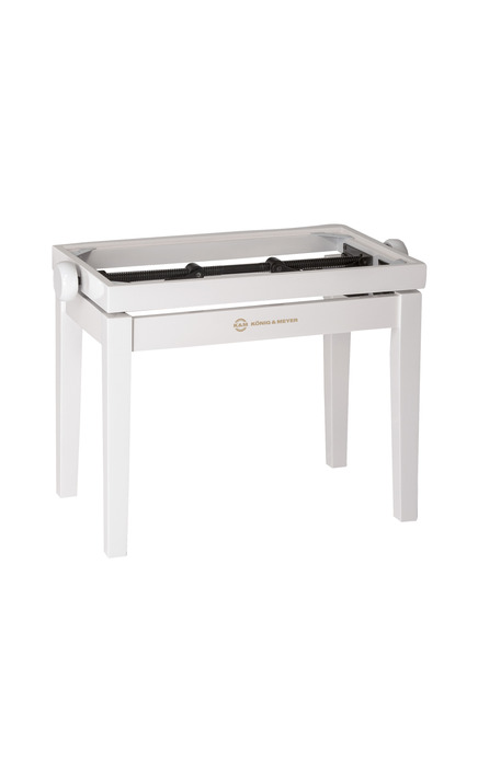 K&M 13711 Pianobenk tre-ramme, bøk, hvit blank finish
