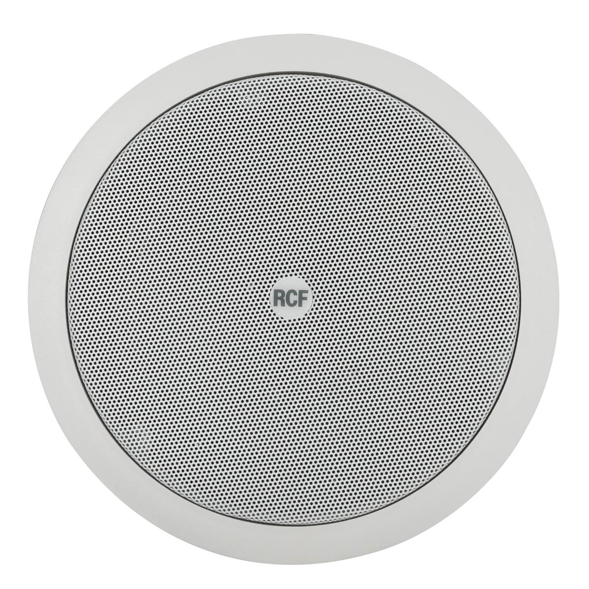 RCF PL 60 6in twin-cone flush mounting ceiling speaker, whit