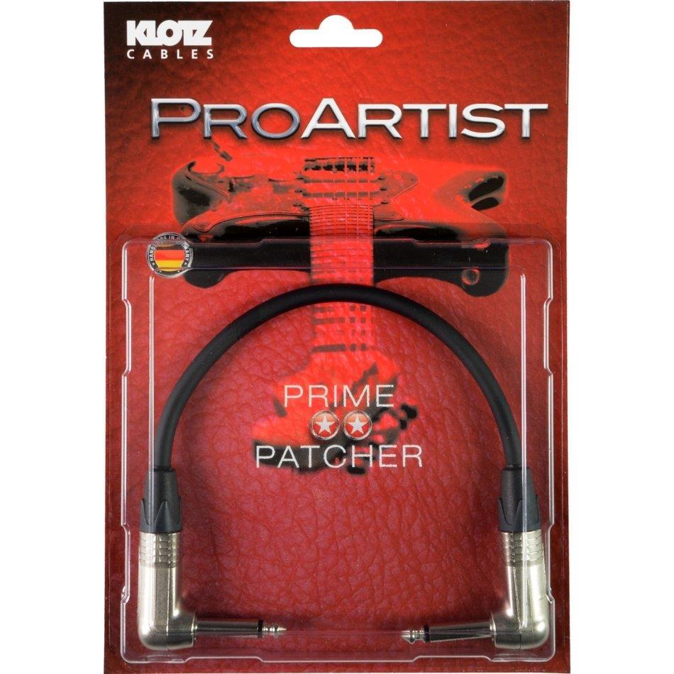 Klotz Pro Artist Ubalansert pedal patch m vinkel jack 20 cm