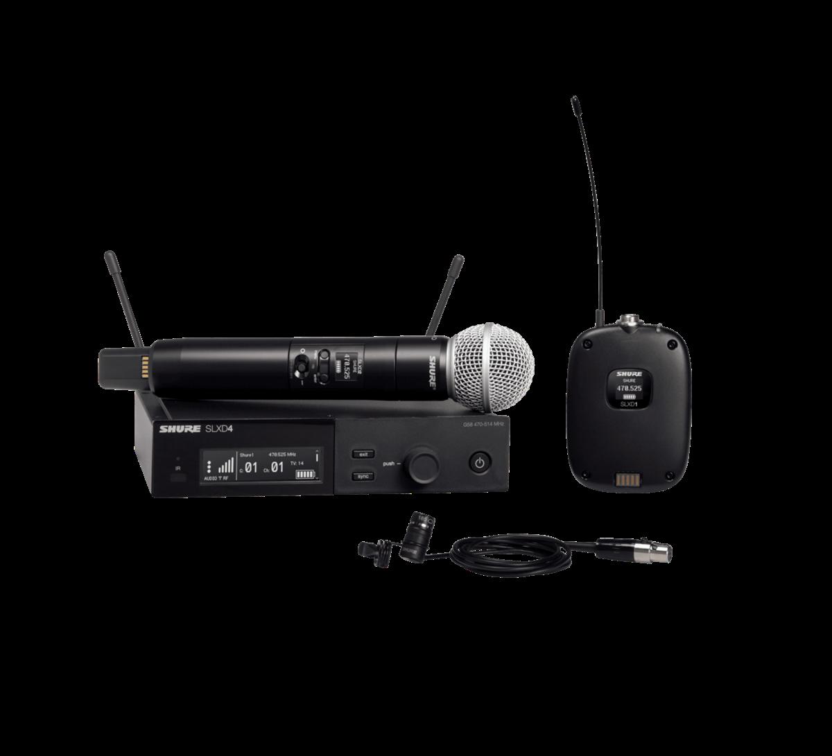 Shure SLX-D Combo system SM58 & WL185 - 518-562MHz