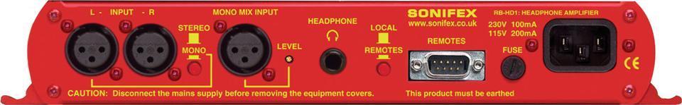 SONIFEX  Single Stereo Headphone Amp. Desktop
