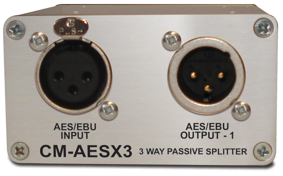 Sonifex Single 3 way AES/EBU Passive splitter XLR